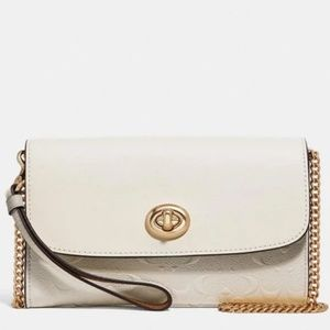 COACH Chain Crossbody Debossed Signature